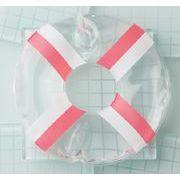 浮き輪型保冷剤 ピンク×ホワイト(お弁当グッズ ランチグッズ)