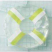 浮き輪型保冷剤 グリーン×ホワイト(お弁当グッズ ランチグッズ)