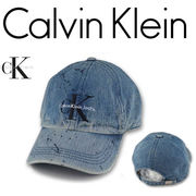 Calvin Klein Jeans WASHED PAINT SPLATTER DENIM DAD HAT  16309