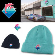 11e1bef36b7 有限会社 スコール · PINK DOLPHIN WAVES BEANIE 16315