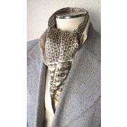 プリント柄袋縫いエレガントなメンズ用100%シルクスカーフ 1094b