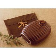 レトロクラシック 陶器製の湯たんぽ 日本製袋付き