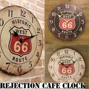 【壁掛時計】レジェクション カフェ クロック★ルート66★
