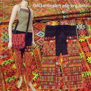 ベトナム北部の少数民族・ザオ族の民族衣装☆ザオ族刺繍ワイドロングパンツ