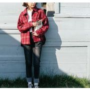 シャツ ブラウス チェック柄 プレッピースタイル ゆったり 全2色 r3001915