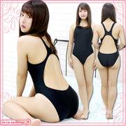 1234C■MB■送料無料■ 競泳水着 色:黒 サイズ:M/BIG