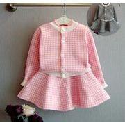 春 子供服 トップス+スカート 女の子 セットアップ 2点セット ファッション カジュアル
