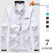 メンズシャツ ボタンシャツ キレイめ カジュアル 半袖/長袖2タイプ6カラー 着痩せ