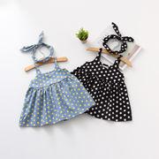 女児 ドレス スカート 春 新しいデザイン 児童 ポルカドット ワンピース 赤ちゃん