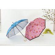 フラワーストライプ/晴雨兼用長傘