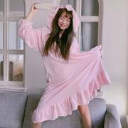 秋冬 新しいデザイン 韓国風 ガールフレンド スウィート かわいい 耳 ワンピース 手