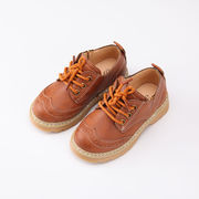 春秋 児童 靴 英国スタイル ひもあり 革靴 男児 ピーズ靴 赤ちゃん 靴 カジュアルシ