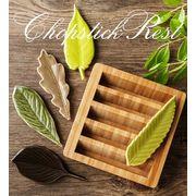 BLHW153296◆5000以上【送料無料】◆ナチュラル・Zakka・リーフ・野菜・陶磁・箸置き