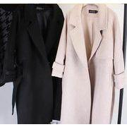 ロングコート スリム 無地 韓国風 ファッション 全2色 r2000095