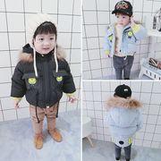 赤ちゃん 綿が詰めジャケット アウターウェア 児童 冬服 男児 手厚い コットンコート