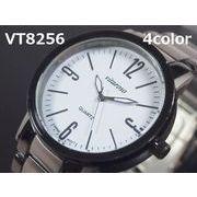 VITAROSOメンズ腕時計 メタルウォッチ 日本製ムーブメント ガンメタ&チタニウム仕上げ