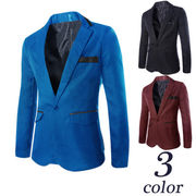 通 外 スタイル レザー 品質 エッジ 韓国風 ファッション バックル 男 小 スーツ