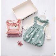新品★キッズファッション★★サロペットワンピース+tシャツ★2点セット
