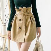 ☆ベルトSETダブルボタン スカート☆ミニスカート