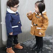 子供冬コート 男女兼用 3色 身長80-140CM キッズ クリスマスコート 防寒 長袖