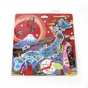 <和雑貨・和土産>エッチング 日本地図パズルマグネット 日本の名所 No.303-350
