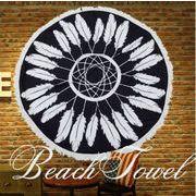 BLHW151947◆5000以上【送料無料】◆ラウンドビーチタオル ラウンドビーチマット 大判レジャーシート