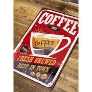 アンティーク メタルプレート S【coffee】