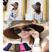 親子帽子 / つば広  中折れ ハット / レディース メンズ  麦わら帽子 紫外線対策 UVケア