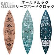 ■キーストーン■ オールドルック サーフボードクロック