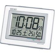 セイコー 温・湿度表示付 電波目覚時計 SQ686W