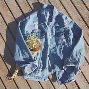 ジャケット メンズ デニム Gジャン デニムジャケット 長袖 ダメージ加工