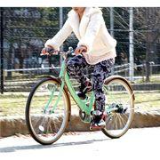 (価格変更)(欠品)Raychell  折りたたみ自転車 R-321N【グリーン×ブラウン】品番17076【代引き不可】