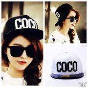 【即納618531】大きいサイズ☆COCO ロゴ刺繍 スナップバック キャップ 帽子 男女兼用 CAP