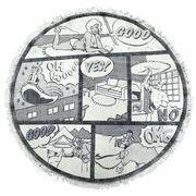 プリントラウンドマット コミック/約Φ90cm YD-10343(ラグ・マット   ラグ)