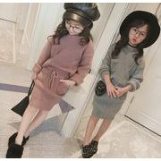 春秋 子供服 セーター+スカート 女の子 2点セット ファッション