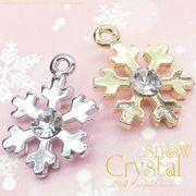 "★L&A original charm★かわいい&きれいな★雪の結晶チャーム★K16GP★""sweet snow crystal"""