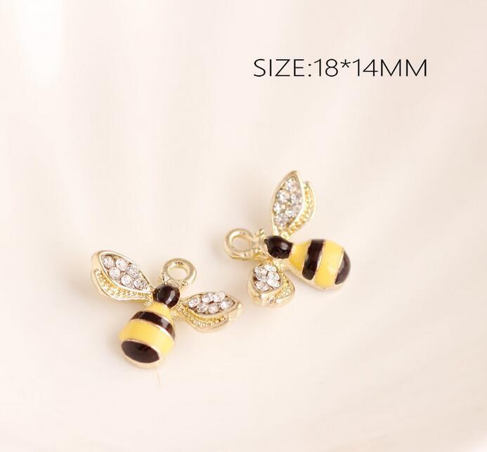 チャーム 動物 アニマル ミツバチ バチ 蜂 アクセサリーパーツ チャームパーツ