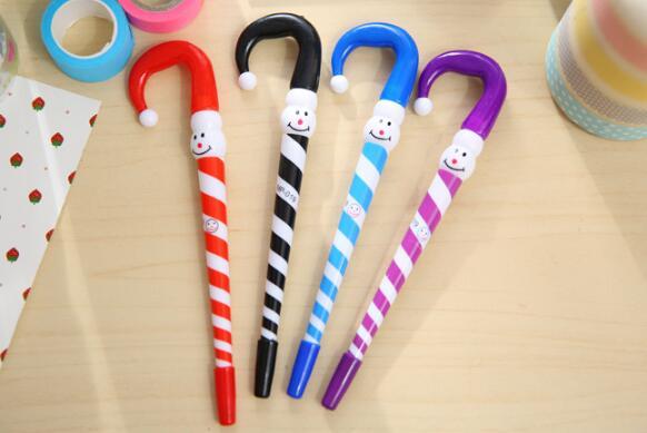 ボールペン 青インク 傘形ボールペン ピエロ柄 創意文具 小学生 新学期 4色