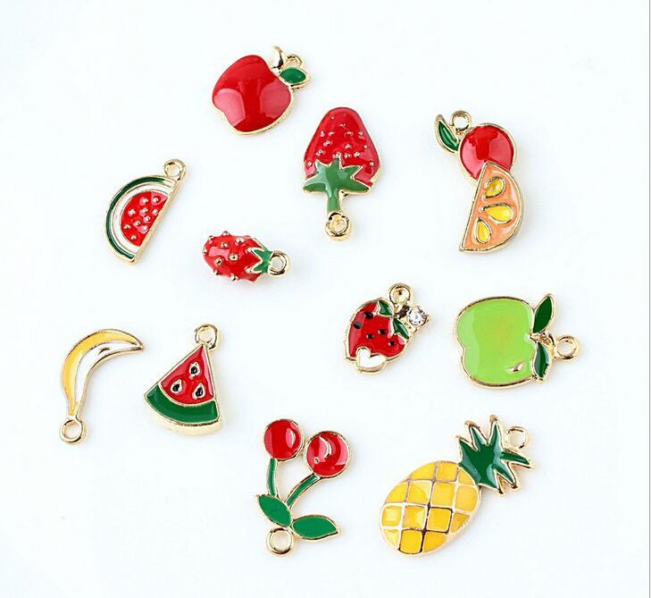 チャーム アクセサリー 果物 アップル さくらんぼ チェリー デコパーツ ピアス 携帯DIY デコ素材 フルーツ