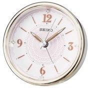 SEIKO セイコー 目覚まし時計 アナログ ELバックライト 薄ピンク KR897P