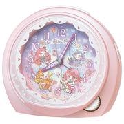 SEIKO セイコー 目覚まし時計 リルリルフェアリル アナログ ピンクパール CQ151P