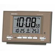 SEIKO セイコー 目覚まし時計 自動点灯 電波 デジタル 温度 夜でも見える SQ778B