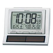 SEIKO セイコー 目覚まし時計 ソーラー 電波 デジタル 温度 湿度 SQ751W