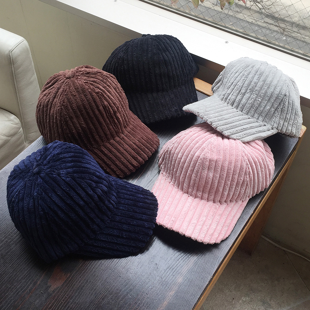 ▼MAGGIO▼【モコモコでかわいい】冬のお出掛けに♪ コーデュロイカラーキャップ(帽子)
