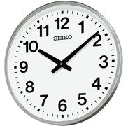 SEIKO セイコー 掛け時計 アナログ 屋外 防雨型 オフィスタイプ 金属枠 KH411S