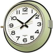 SEIKO セイコー 掛け時計 アナログ 防塵型 オフィスタイプ 金属枠 薄緑 KS474M