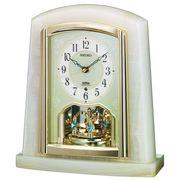SEIKO セイコー 置き時計 電波 アナログ 回転飾り オニキス枠 BY223M