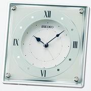 SEIKO セイコー 置き時計 アナログ アラーム 白パール QK735W