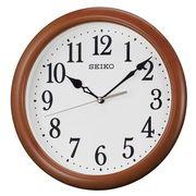 SEIKO セイコー 掛け時計 アナログ 木枠 茶木地 KX620B