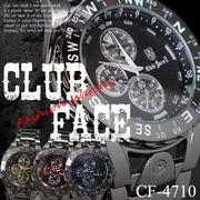 【ケースありorなしが選べる♪】ブラックメタルバンド メンズウォッチ◇腕時計 CF-4710